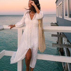 ARNHEM Poeme Sundress White Midi Dress